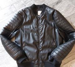 Crna kožna jakna 164