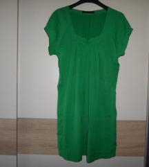 ZARA WOMAN lijepa zelena haljina vel.M