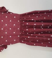 Točkasta (Polka dot) bordo haljina, pt u cijeni