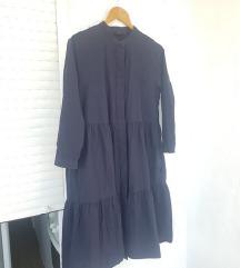 COS modra haljina s volanima