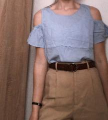 Kratka plava bluza
