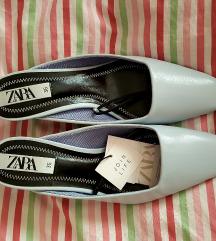 Cipele ZARA sv.plave kitten NOVO