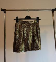Šljokava suknja sa životinjskim uzorkom