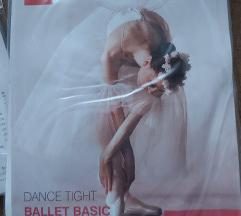 Baletne hulahopke bijele i roza, vise velicina