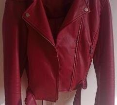 Sinsay crvena kozna jakna vel. M