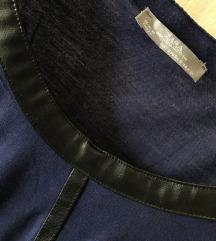 Zara majica s kožnim detaljima