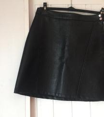 Zara mini kožna suknja