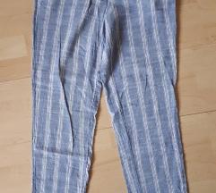 Mango lanene prugaste hlače