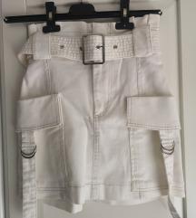 Novo Bershka jeans bijela suknja