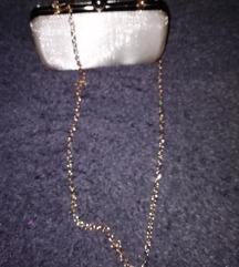 Clutch zlatna torbica