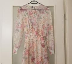 Zara like cvjetna midi haljina