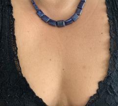 Ogrlica lapis lazuli, srebrna kopca