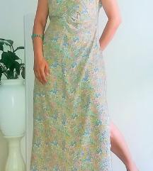 Duga drapirana ljetna haljina