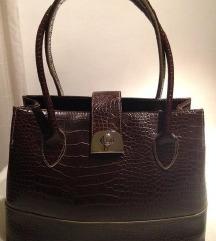 Debenhams Collection kožna kroko torba