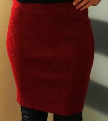 RJEŠAVANJE ZALIHA-Nova crveno vino bodycon suknja