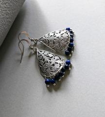 Handmade naušnice - lapis lazuli