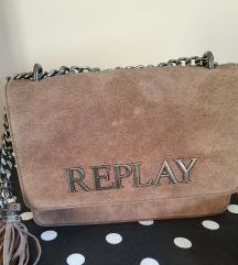 Replay smeđa kožna torba