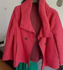 Pink vuneni kaput