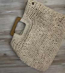 Pletena torba za plazu