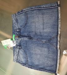Benetton traper suknja vel.2XL(11-12)