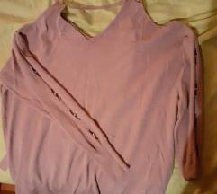 Roza oversized majica na vezanje