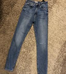 Zara jeans visoki struk