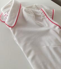Orsay bijela polo majica s crvenim detaljima