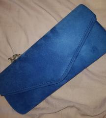 Nova plava plisasta torbica