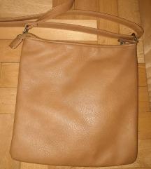 Smeda kozna torbica
