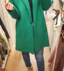 ZARA zeleni kaput S-L