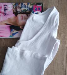Zara basic bijela majica, otvorena leđa