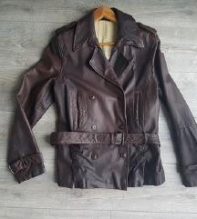 Mustang aviator smeđa jakna/prava koža