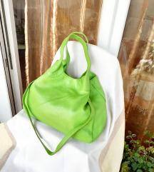 Neon zelena kožna torba&marama gratis