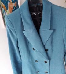 Zara novi, duži plavi sako-kaputić