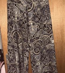 H&M široke hlače s uzorkom