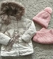 Zara pernata jakna 104! + poklon Zara šal i kapa!