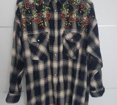 Zara oversized izvezena košulja