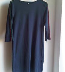 Modra rastezljiva zimska haljina/tunika S/M