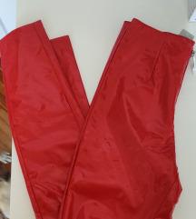 Calzedonia Vinyl crvene hlače nove