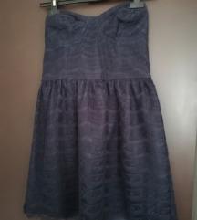 Čipkasta haljina bez rukava