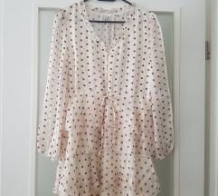 Zara like haljina s točkicama i volanima