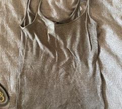 h&M basic srebrna majica small