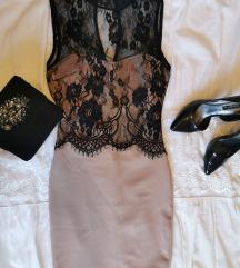 Čipkasta uska svečana haljina