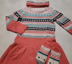 Gymboree haljina, kapa i rukavice