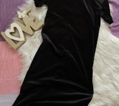 Zara plišana baršunasta haljina