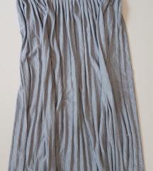 Plisirana siva suknja