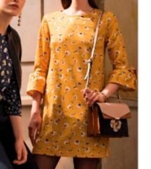 Orsay zuta cvjetna haljina
