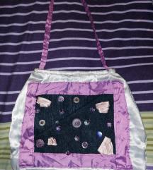 Lila traper torba ručne izrade