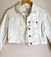Bijela traper jakna