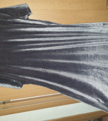 Plišana srebrena haljina